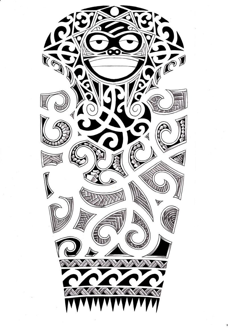 Full sleeve Maori design by