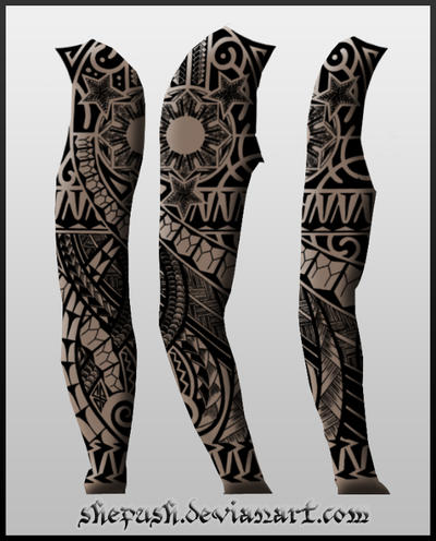 Full sleeve tattoo 12 by shepush on DeviantArt