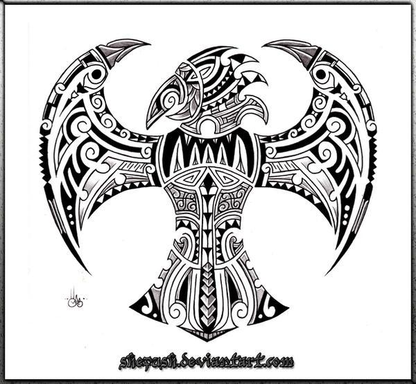 Maori Tattoo Design Wallpaper Wp300369: .:maori Bird:. By Shepush On DeviantArt