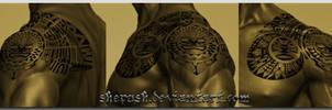 Polynesian shoulder design