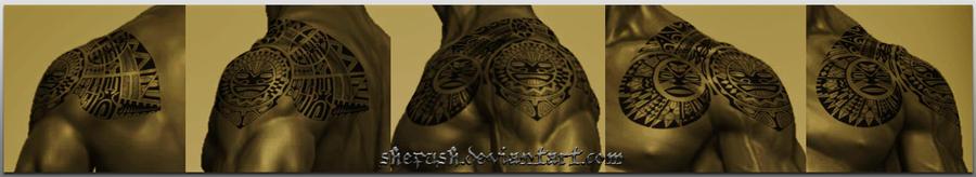 Polynesian shoulder design by shepush