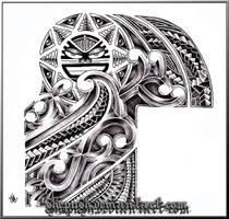 half sleeve tribal by shepush