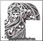 half sleeve tribal