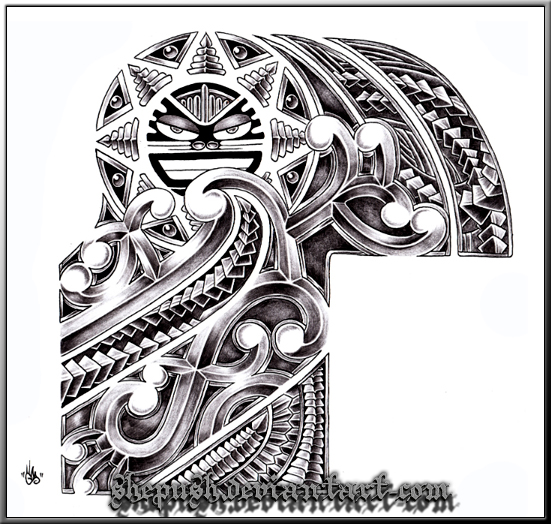 half sleeve tribal by shepush on deviantart. Black Bedroom Furniture Sets. Home Design Ideas