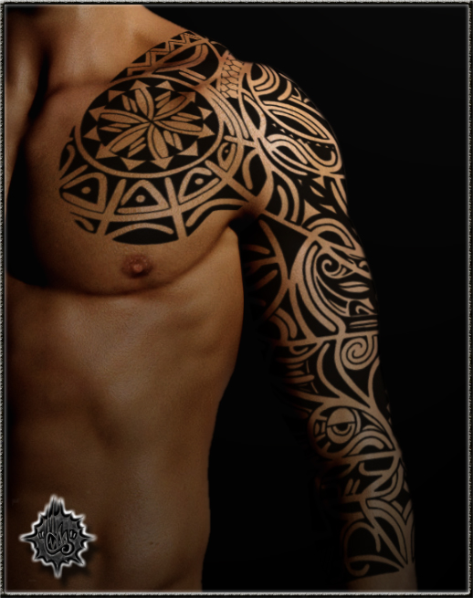 Tribal sleeve by shepush