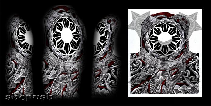 Bio Maori Mix Half Sleeve By Shepush On Deviantart