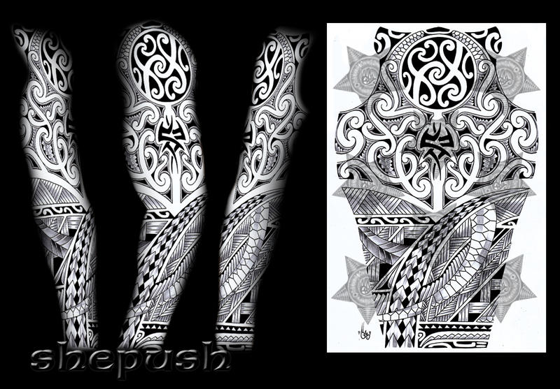 tribal sleeve design by shepush on deviantart. Black Bedroom Furniture Sets. Home Design Ideas