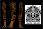 3/4 tribal sleeve