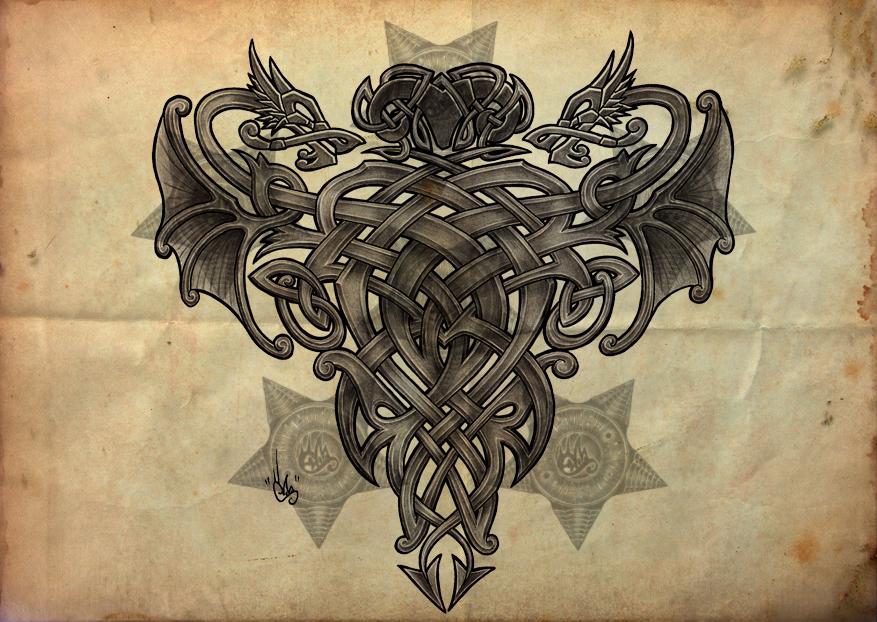 celtic dragon by shepush on deviantart. Black Bedroom Furniture Sets. Home Design Ideas