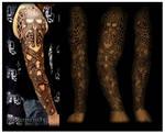 Celtic sleeve tattooed