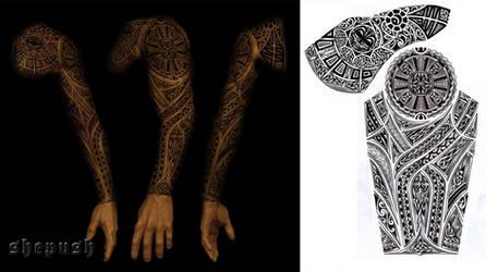 full sleeve tribal design