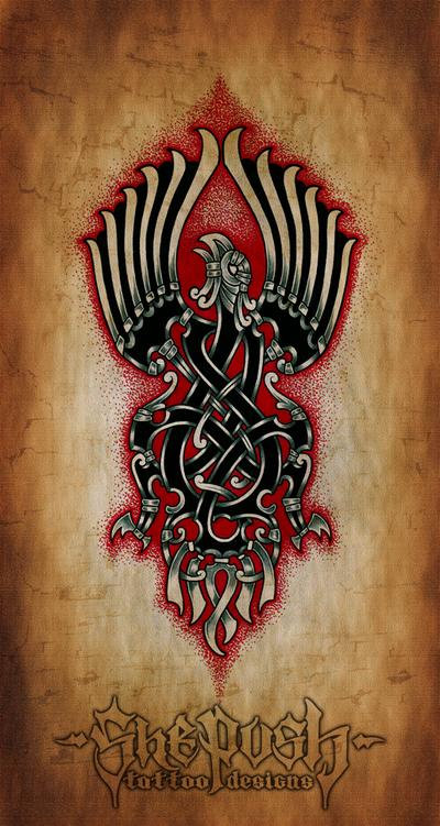 Celtic eagle by shepush