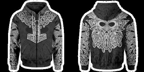 Mjolnir zip hoodie by shepush
