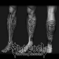 Maori inspired leg sleeve by shepush