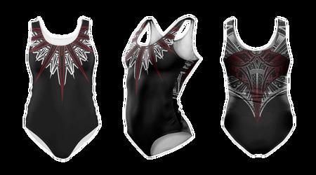 Hahalua swimming suit by shepush
