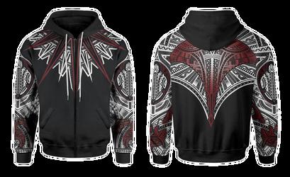 Hahalua zipped hoodie by shepush