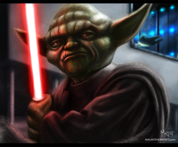 DARTH YODA by MAiJiNTHEARTIST