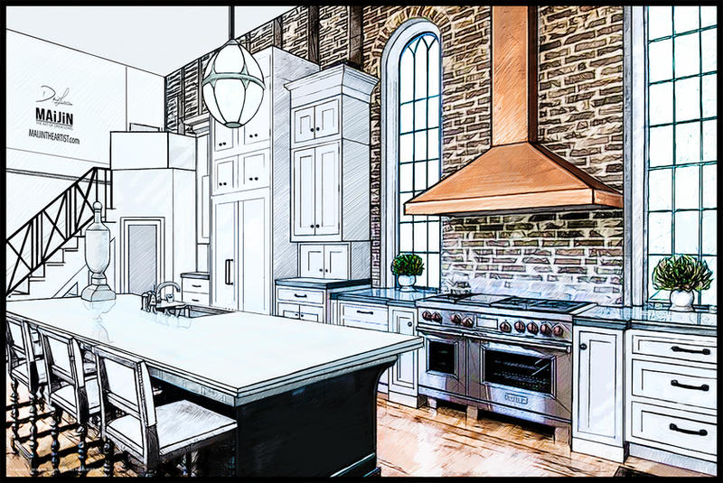Kitchen Interior Concept Design #2 By MAiJiNTHEARTIST On