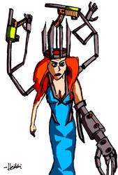 The Cyborg Queen by misterhessu