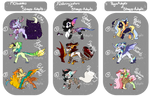 COLLAB DESIGNS! CHECK THEM OUT! by PegaAdopts