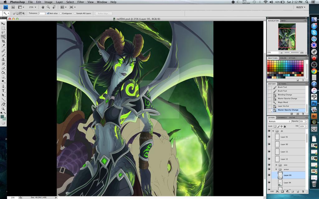 Warcraft Demon Hunter wip1 by RizyuKaizen