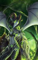 Warcraft -The Fel Hunter- by RizyuKaizen