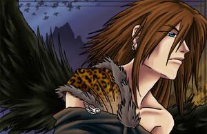 Black Winged Warrior by RizyuKaizen