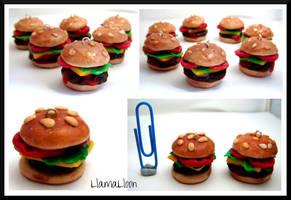Cheeseburger Charms by Llama-Lloon