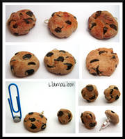 Cookie Charms and Earring Studs by Llama-Lloon