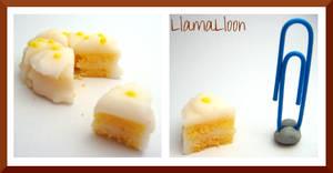 Real Miniature Lemon Cake! by Llama-Lloon