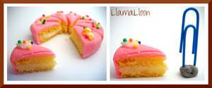 Real Miniature Pink Lemon Cake! by Llama-Lloon