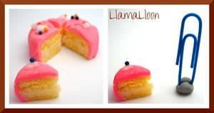 Real Miniature Small Pink Lemon Cake! by Llama-Lloon