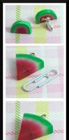 Watermelon Slice Charms by Llama-Lloon
