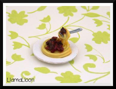 Miniature Spaghetti Bolognese by Llama-Lloon