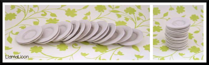 Miniature Plates! by Llama-Lloon