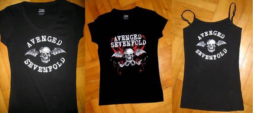 Avenged Sevenfold t-shirts by Papaja17