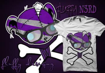 fluffy nerd tee by djtwister4life