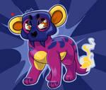 Fire/Dark fakemon 'Dyger' Shiny by splooto
