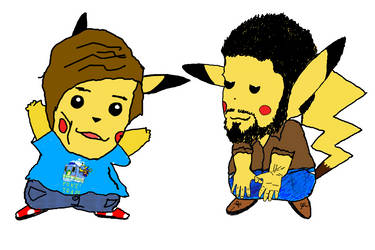 Game Grumps: Ross and Barry as Pikachu by OttselSpy24
