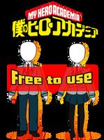 [ F2U ] BNHA Uniform Bases - Male and Female by Mama-Choco