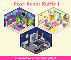 [CLOSED] Pixel Room raffle! -WINNER PICKED!- by Mama-Choco