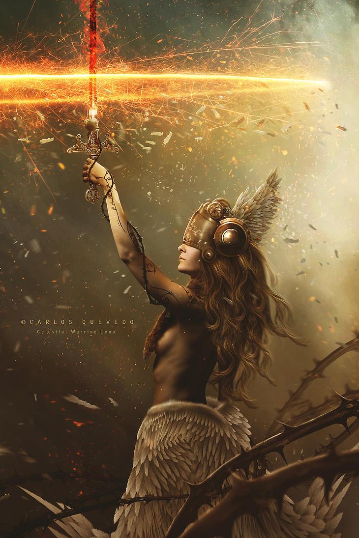 Celestial Warrior Lena by Carlos-Quevedo