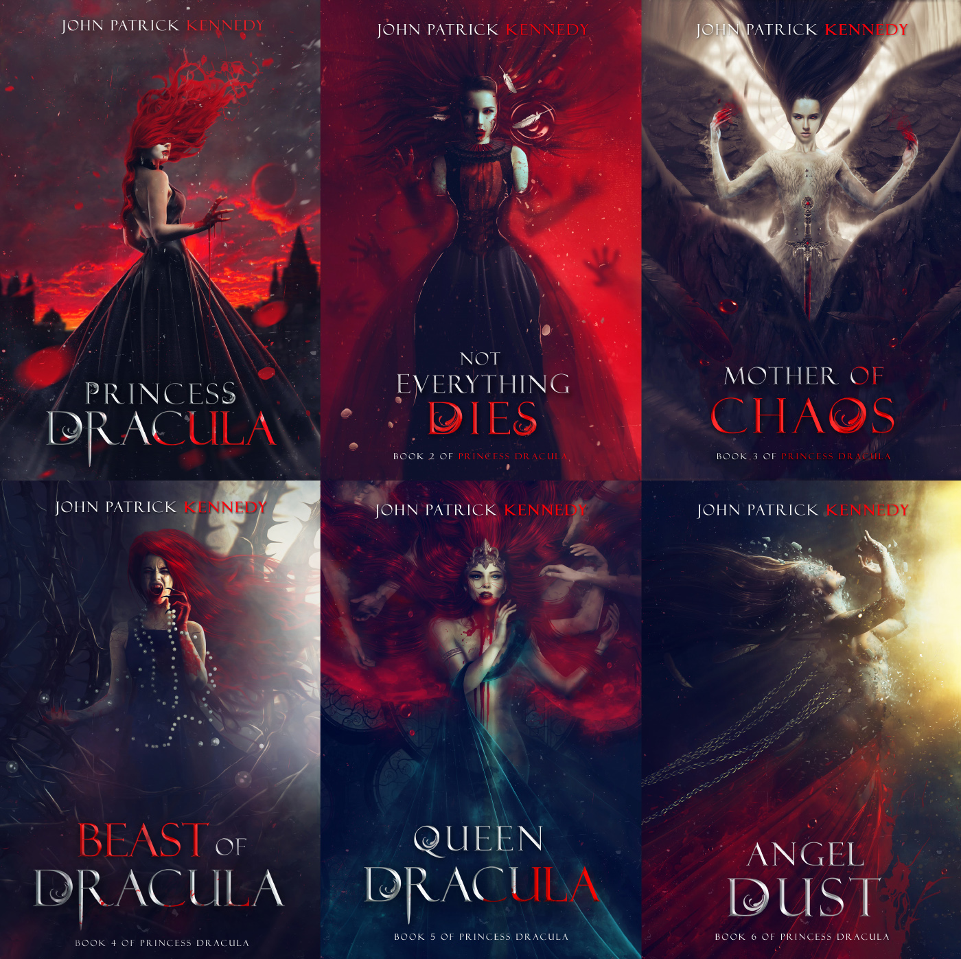 Saga Princess Dracula (Book covers) by Carlos-Quevedo