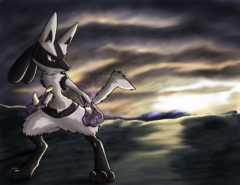 Lucario by shorty-antics-27