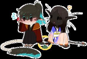 Koumori And Kyu HAND TOUCH by shorty-antics-27