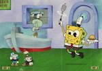 Cuphead x SpongeBob Boss