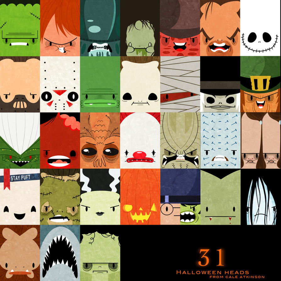31 Hallloween Heads by 2DCale