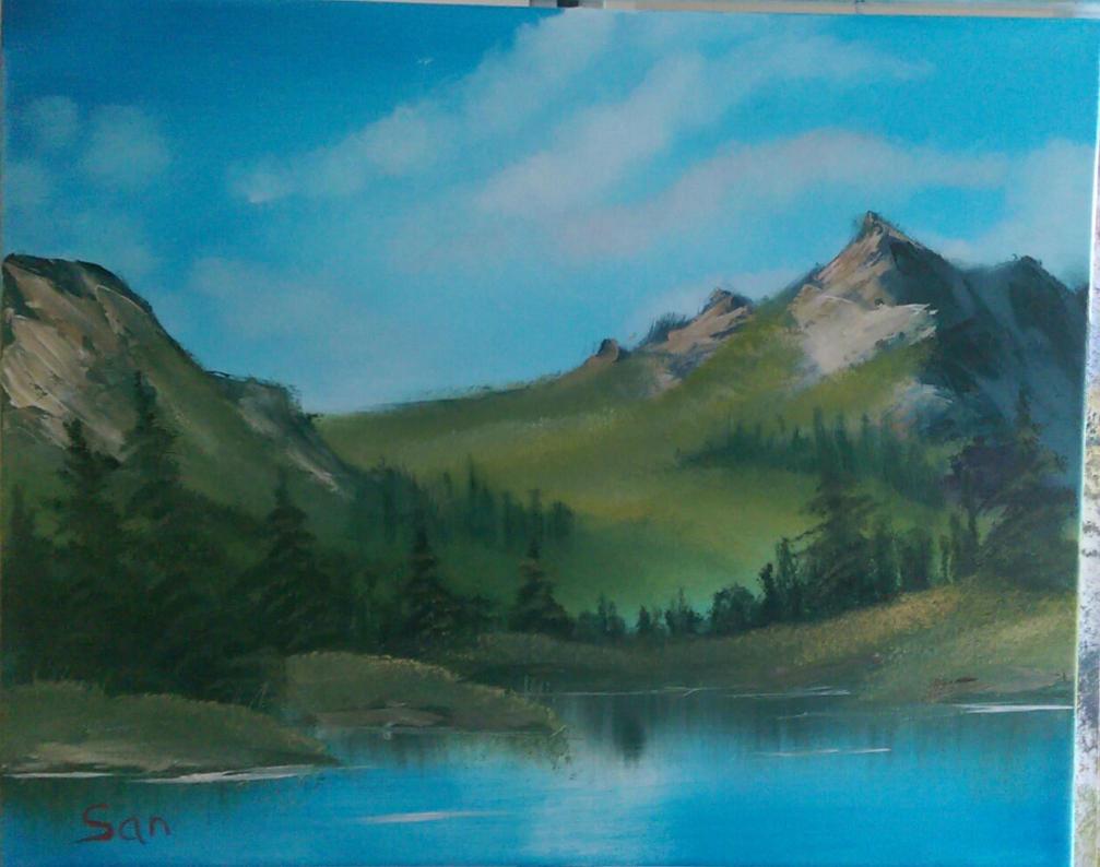 Mountain Ridge Lake by DarkIllusionsX
