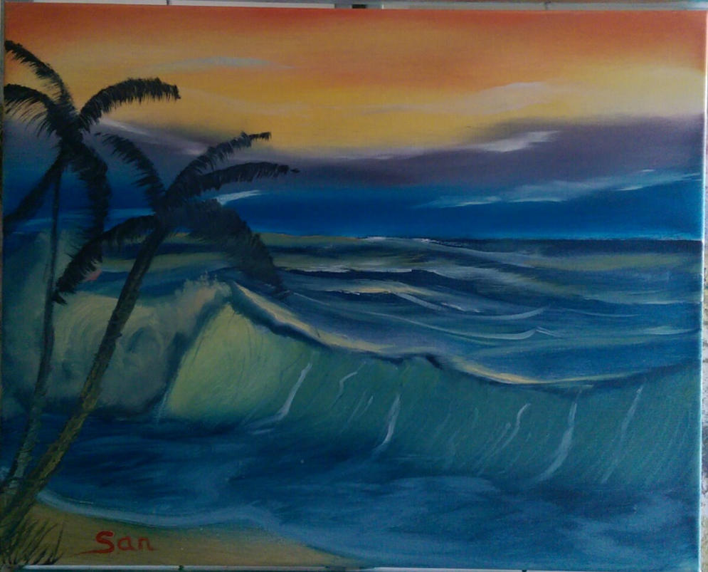 Tropical Seascape by DarkIllusionsX