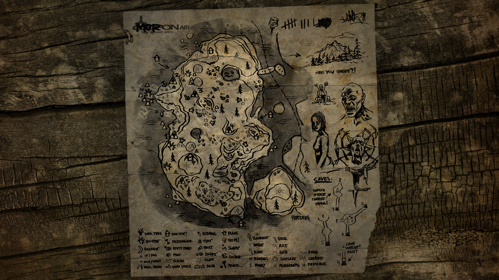 Mapa De The Forest.The Forest Map Wallpaper 4 By Manbearpagan On Deviantart